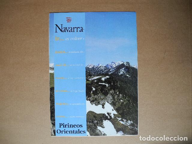 NAVARRA. PIRINEOS ORIENTALES. (Coleccionismo - Folletos de Turismo)