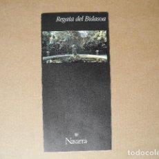 Folletos de turismo: REGATA DEL BIDASOA. NAVARRA. DESPLEGABLE.. Lote 85704844