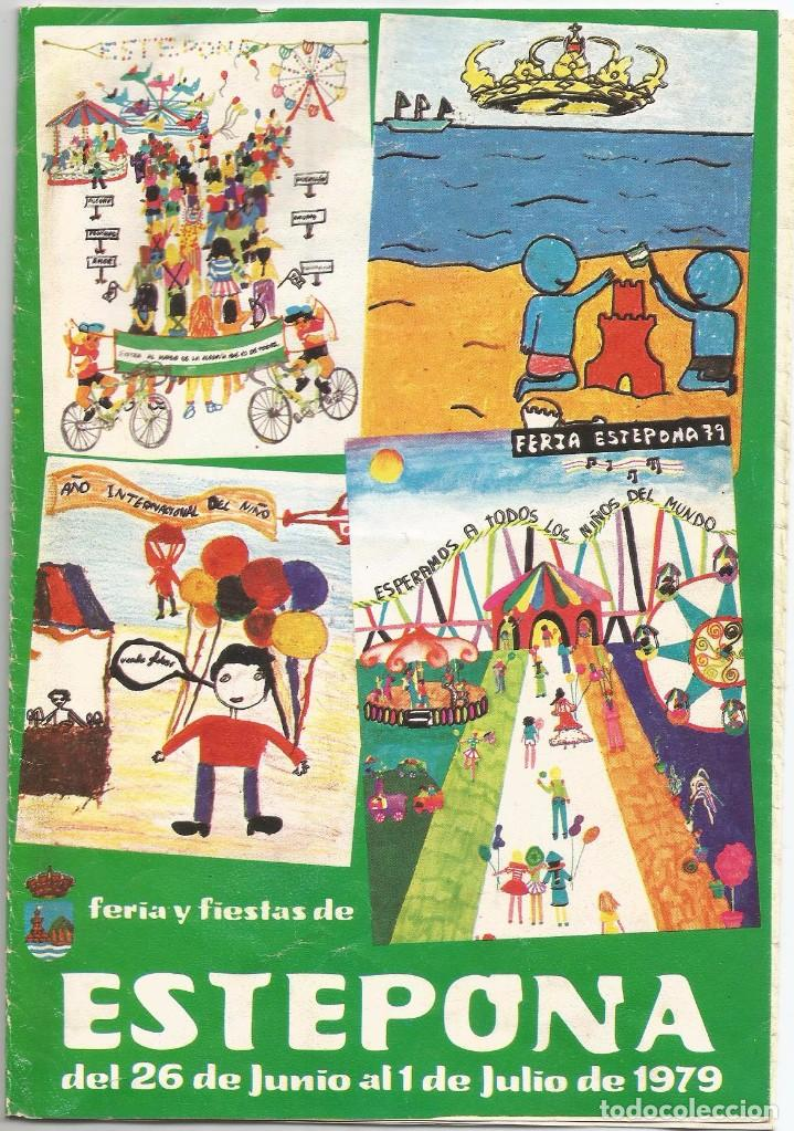 PROGRAMA FERIA Y FIESTAS 1979 ESTEPONA (Coleccionismo - Folletos de Turismo)