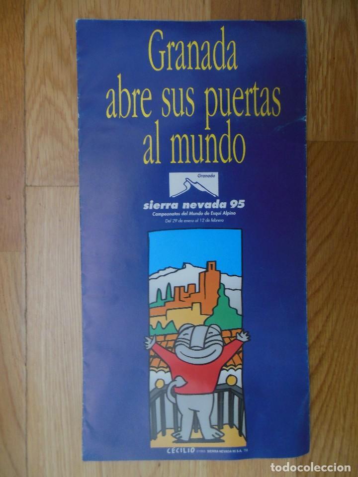 FOLLETO SIERRA NEVADA 95 CAMPEONATOS DEL MUNDO DE ESQUÍ ALPINO (Coleccionismo - Folletos de Turismo)