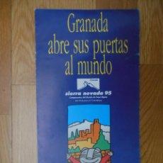 Folletos de turismo: FOLLETO SIERRA NEVADA 95 CAMPEONATOS DEL MUNDO DE ESQUÍ ALPINO. Lote 86472548