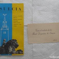 Folletos de turismo: SUECIA. FOLLETO PUBLICITARIO DE SUECIA DE 1955. INCLUYE SALUDO DE LA REAL LEGACIÓN DE SUECIA. NUEVO.. Lote 87086160