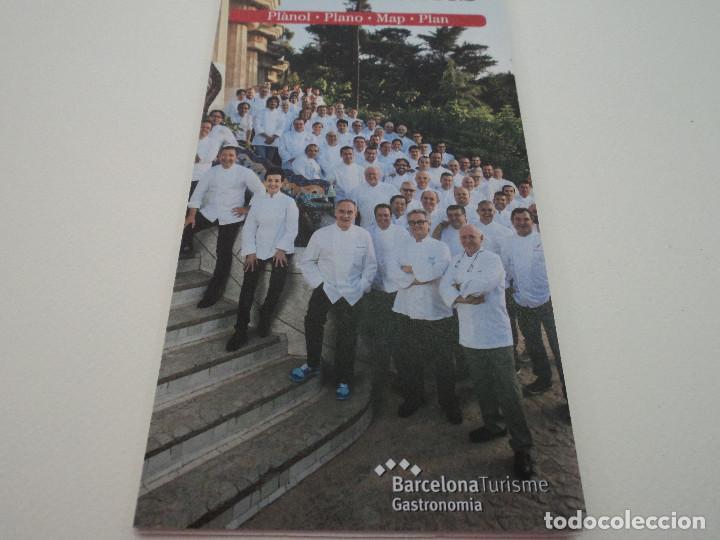 PLANO GUIA BARCELONA RESTAURANTES (Coleccionismo - Folletos de Turismo)