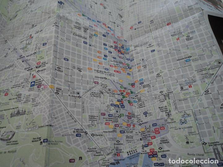 Folletos de turismo: plano guia barcelona restaurantes - Foto 3 - 87230756