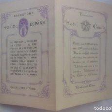 Folletos de turismo: HOTEL ORIENTE, HOTEL ESPAÑA. BARCELONA 1929. Lote 87431856