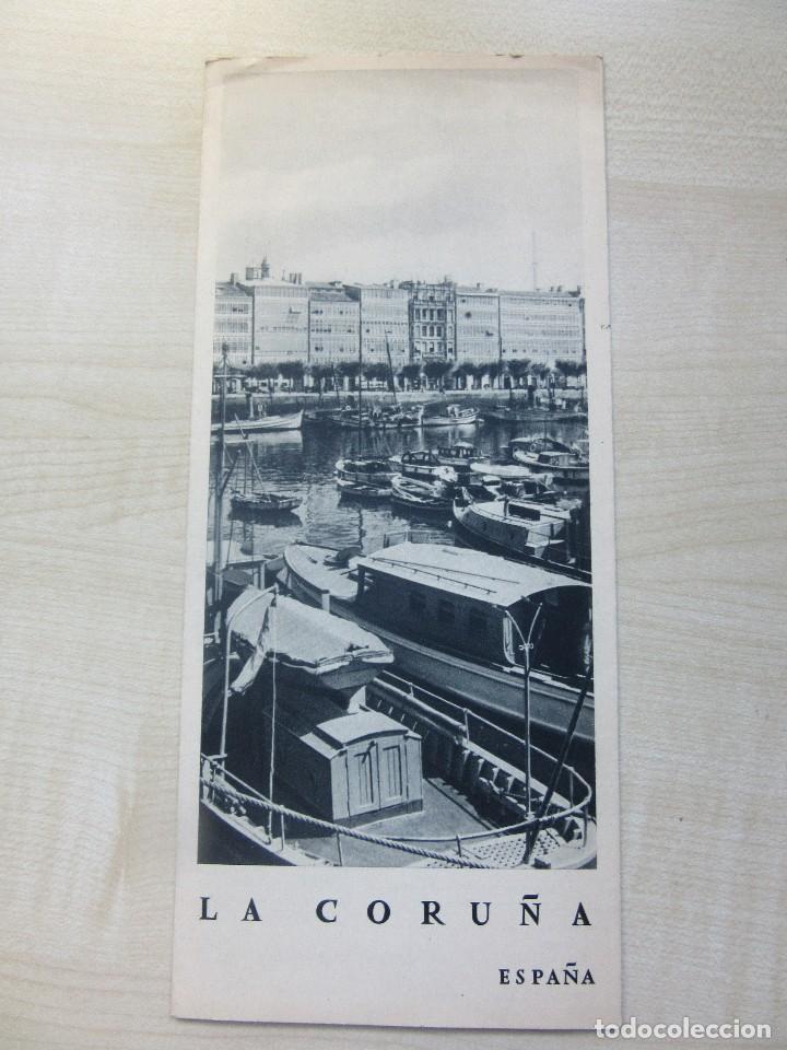 Folletos de turismo: Folleto tríptico de La Coruña editado por la Dirección General del Turismo Años 40 o 50 - Foto 3 - 87810584