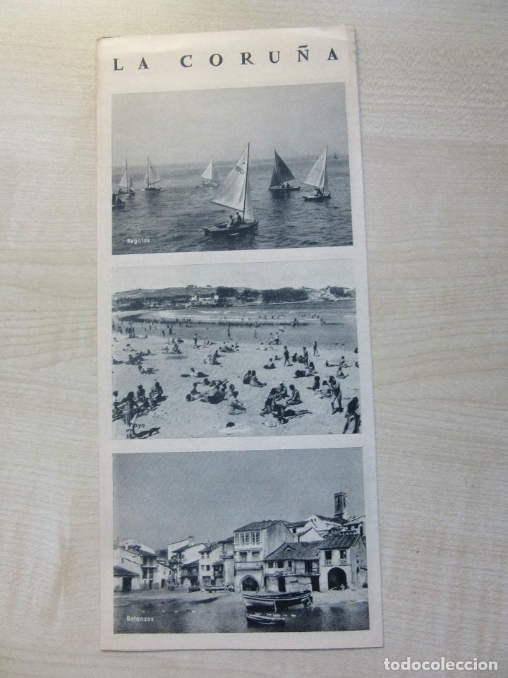 Folletos de turismo: Folleto tríptico de La Coruña editado por la Dirección General del Turismo Años 40 o 50 - Foto 4 - 87810584