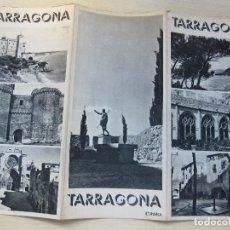 Folletos de turismo: FOLLETO TRÍPTICO DE TARRAGONA EDITADO POR LA DIRECCIÓN GENERAL DEL TURISMO AÑOS 40 O 50. Lote 87816132