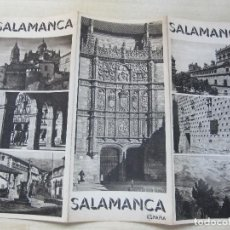 Folletos de turismo: FOLLETO TRÍPTICO DE SALAMANCA EDITADO POR LA DIRECCIÓN GENERAL DEL TURISMO AÑOS 40 O 50. Lote 87836708