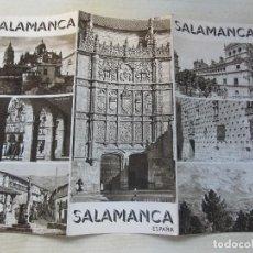 Folletos de turismo: FOLLETO TRÍPTICO DE SALAMANCA EDITADO POR LA PATRONATO NACIONAL DEL TURISMO AÑOS 30. Lote 87858096