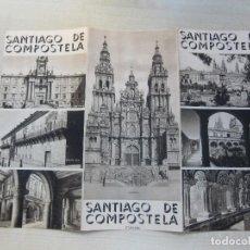 Folletos de turismo: FOLLETO TRÍPTICO DE SANTIAGO DE COMPOSTELA EDITADO POR LA PATRONATO NACIONAL DEL TURISMO AÑOS 30. Lote 136534608