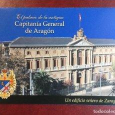 Folletos de turismo: EL PALACIO DE LA CAPITANÍA GENERAL DE ARAGÓN, ZARAGOZA. Lote 88886184