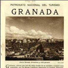 Brochures de tourisme: FOLLETO DEL PATRONATO NACIONAL DE TURISMO DE GRANADA. EDITADO HACIA EL AÑO 1925. Lote 89346284