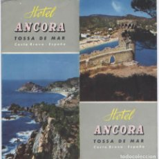 Folletos de turismo: FOLLETO TOSSA DE MAR HOTEL ANCORA COSTA BRAVA . Lote 90172612