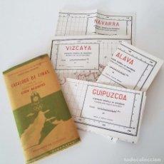Folletos de turismo: CATALOGO DE CIMAS PARA EL RECORRIDO DE LOS CIEN MONTES - 1956. Lote 90450704
