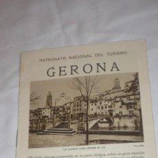 Folletos de turismo: FOLLETO TURISTICO DE GERONA. Lote 90463629
