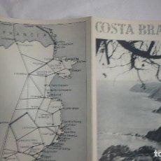 Folletos de turismo: FOLLETO TURISMO COSTA BRAVA AÑOS 50. Lote 90557845