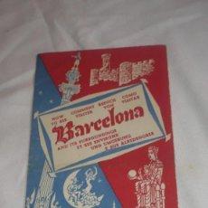 Folletos de turismo: FOLLETO TURISMO BARCELONA AÑOS 50/60. Lote 90564965