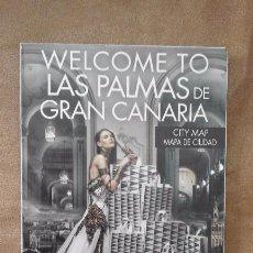 Folletos de turismo: ANTIGUA GUIA MAPA DESPLEGABLE TURISTICA LAS PALMAS DE GRAN CANARIA EL CORTE INGLES. Lote 90813160
