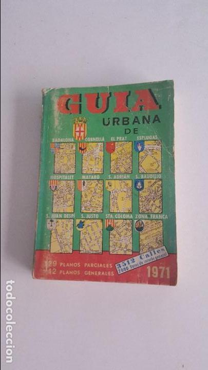 GUIA URBANA BARCELONA 1971 (Coleccionismo - Folletos de Turismo)