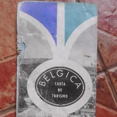 Folletos de turismo: ANTIGUA GUIA CARTA DE TURISMO, MAPA DESPLEGABLE BÉLGICA.. Lote 91511370