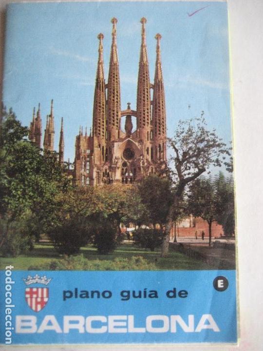 BARCELONA. PLANO GUIA. 1970 (Coleccionismo - Folletos de Turismo)