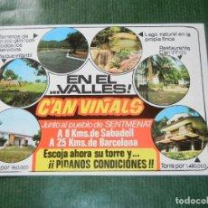 Brochures de tourisme: FOLLETO PROMOCION URBANIZACION CAN VINYALS - SENTMENAT - AÑOS 1970. Lote 93601080