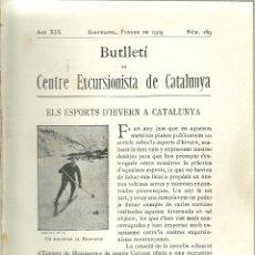 Folhetos de turismo: 3176.- ELS ESPORTS DE NEU A CATALUNYA-SEPARATA DEL BUTLLETI DEL C.E.C. ANY 1909-SKI-LA MOLINA. Lote 94252870