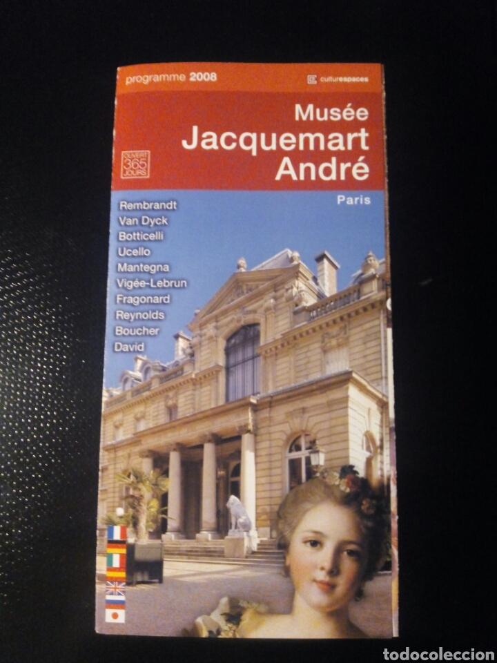 FOLLETO INFORMACIÓN MUSEO JACQUEMART ANDRÉ, PARIS (Coleccionismo - Folletos de Turismo)