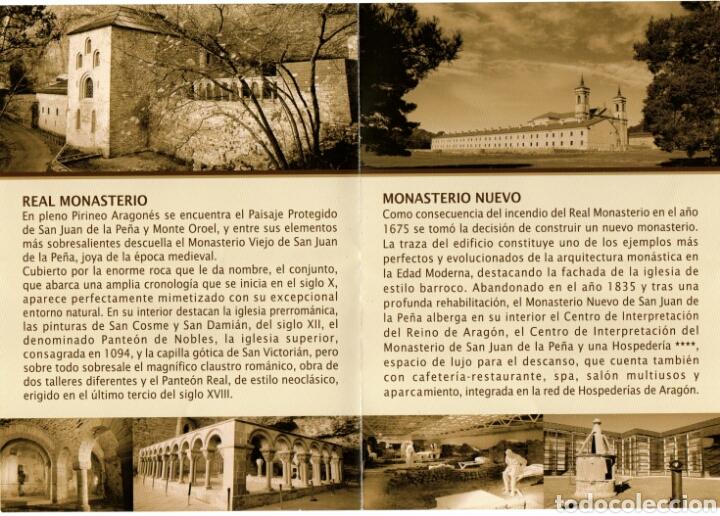 Folletos de turismo: FOLLETO DIPTICO SAN JUAN DE LA PEÑA. HUESCA - Foto 2 - 95292078