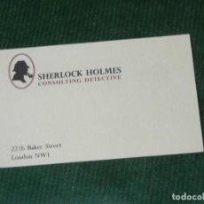 Foglietti di turismo: TARJETA MUSEO DE SHERLOCK HOLMES - 2221B BAKER STREET LONDRES - AÑOS 1990. Lote 95423435
