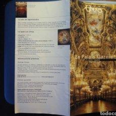Folletos de turismo: LE PALAIS GARNIER, OPERA. 2008. Lote 95533048