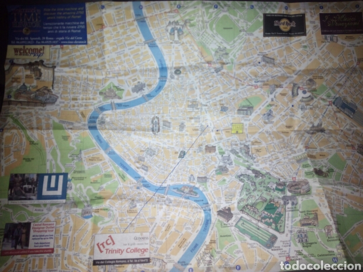 MAPA DE ROMA (Coleccionismo - Folletos de Turismo)
