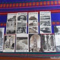 Folletos de turismo: FOLLETO TURÍSTICO AÑOS 60 OVIEDO PALENCIA MENORCA LEÓN SANTANDER SEGOVIA SALAMANCA VALENCIA. BE.. Lote 95701827