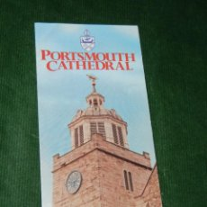 Folletos de turismo: FOLLETO CATEDRAL DE PORTSMOUTH - AÑOS 1990. Lote 95809239