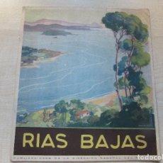 Folhetos de turismo: FOLLETO DE TURISMO DE LAS RÍAS BAJAS 16 PÁGINAS EDITADO AÑOS 50. Lote 95822855