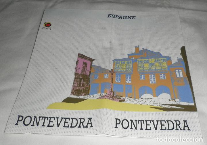 FOLLETO DE PONTEVEDRA EN FRANCES CONTIENE MAPA (Coleccionismo - Folletos de Turismo)