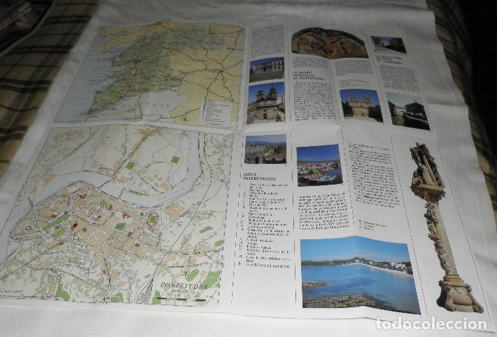 Folletos de turismo: folleto de pontevedra en frances contiene mapa - Foto 2 - 95908967