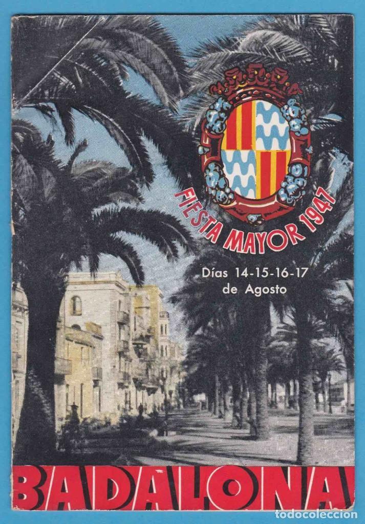 BADALONA. FIESTA MAYOR 1947. FOLLETO CON PROGRAMACIÓN (Coleccionismo - Folletos de Turismo)