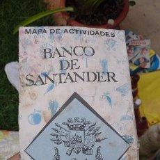Folletos de turismo: ANTIGUA GUIA MAPA DE ACTIVIDADES DESPLEGABLE BANCO SANTANDER ESPAÑA 1970. Lote 96978219