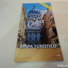 Folletos de turismo: CUBA MAPA TURISTICO E INFORMACION. Lote 97753980