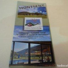 Folletos de turismo: TRIPTICO CAMPING CAN CERVERA MONTSENY. Lote 97754314