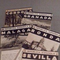 Folletos de turismo: LOTE 5 FOLLETOS PATRONATO NACIONAL TURISMO REPUBLICA ESPAÑOLA: CORDOBA GRANADA MALAGA RONDA SEVILLA. Lote 99220067