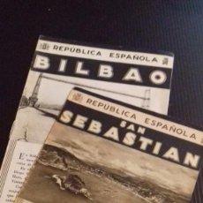 Folletos de turismo: LOTE 2 FOLLETOS PATRONATO NACIONAL TURISMO REPUBLICA ESPAÑOLA: BILBAO, SAN SEBASTIÁN. Lote 99220715