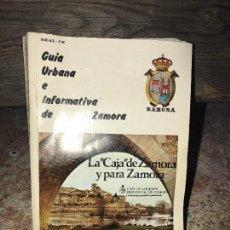 Folletos de turismo: ZAMORA, GUIA URBANA E INFORMATIVA, AÑO 82. Lote 99309107