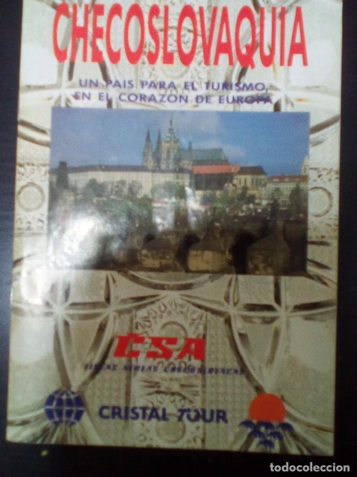CHECOSLOVAQUIA, TURISMO EN 1992 (Coleccionismo - Folletos de Turismo)