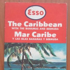 Folletos de turismo: MAPA CARRETERA ESSO. THE CARIBBEAN, BAHAMAS AND BERMUDA. GENERAL DRAFTING CO. EEUU. AÑO 1956.. Lote 99494623