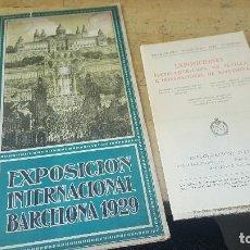 Folletos de turismo: EXPOSICION INTERNACIONAL BARCELONA 1929, . Lote 99642547