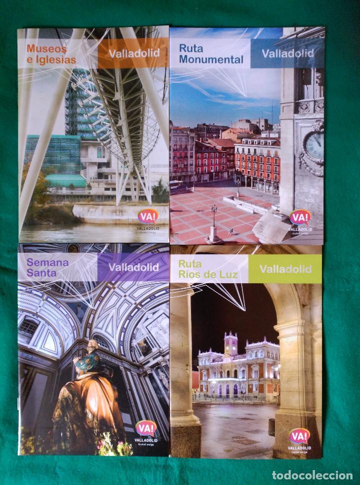 VALLADOLID - 4 FOLLETOS - RUTA RIOS DE LUZ, SEMANA SANTA, RUTA MONUMENTAL, MUSEOS E IGLESIAS (Coleccionismo - Folletos de Turismo)