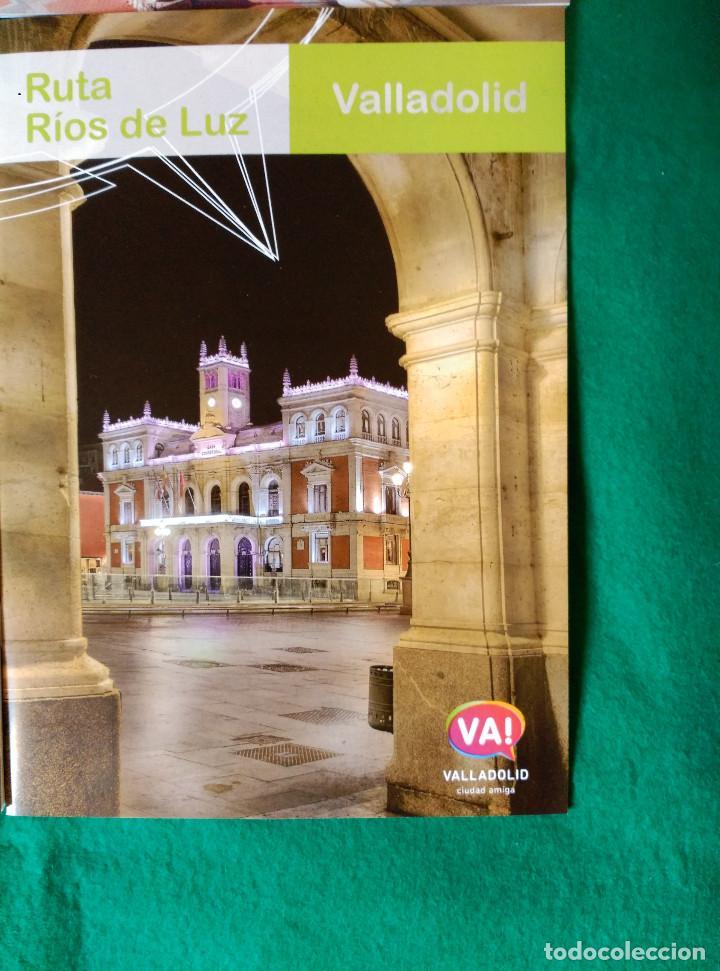 Folletos de turismo: VALLADOLID - 4 FOLLETOS - RUTA RIOS DE LUZ, SEMANA SANTA, RUTA MONUMENTAL, MUSEOS E IGLESIAS - Foto 2 - 99709183